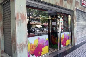 Puerta y escaparate comercial en acero inoxidable 13