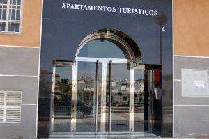 Puerta y portal comunitario en acero inoxidable 19