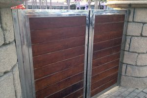 Puerta y portal comunitario en acero inoxidable 2